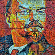 V. I. Ulyanov. Mosaic. Sochi Park. Art Print