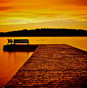 Vacant Sunset Art Print by Mark Miller