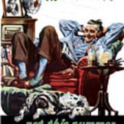 Vacation At Home -- Ww2 Poster Art Print