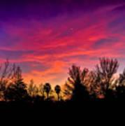 Vacaville Sunset Silhouette  Art Print