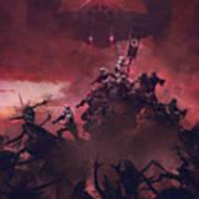 Vader Vs Aliens 2 Art Print