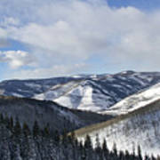 Vail Valley From Ski Slopes Print by Brendan Reals