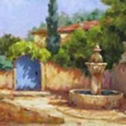 Vaison La Fontaine Art Print