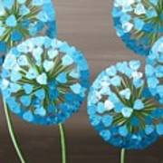 Valentine Alliums Art Print