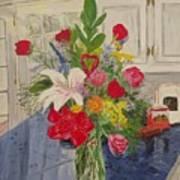 Valentine Bouquet Art Print