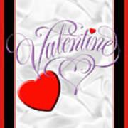 Valentine Script Art Print