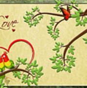 Valentine's Cards 8 Art Print