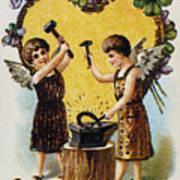 Valentines Day Card, 1900 Art Print