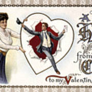 Valentines Day Card, 1909 Art Print