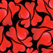 Valentines Hearts Art Print