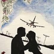 Valentine Kiss Art Print