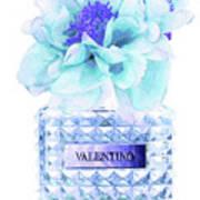 Valentino Blue Perfume Art Print