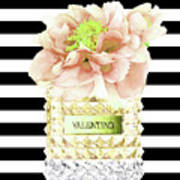 Valentino Perfume With Flower Art Print
