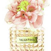 Valentino With Peony Art Print