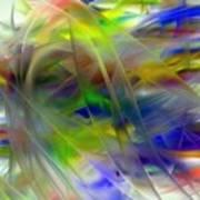 Veils Of Color 2 Art Print