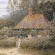 Valewood Farm Under Blackwood Surrey  Art Print by Helen Allingham