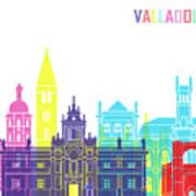 Valladolid Skyline Pop Art Print