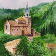 Valldemossa Pleine Air Painting Comp. Art Print