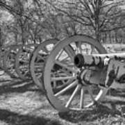 Valley Forge Battery Blackened White Art Print