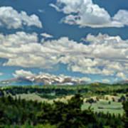 Valley In The Rockies Art Print