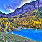 Valley Peak And Falls Art Print