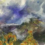 Valley Storm Clouds Art Print