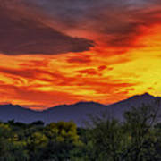 Valley Sunset H33 Art Print