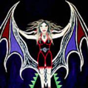 Vampire Lady Of Death Art Print