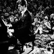 Van Cliburn Is The First Foreigner Art Print by Everett