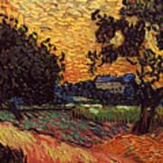 Van Gogh: Castle, 1890 Art Print