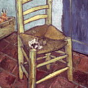 Van Gogh: Chair, 1888-89 Art Print by Granger