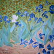 Van Gogh Iris By Alanna Art Print by Alanna Hug-McAnnally