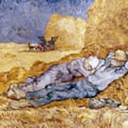 Van Gogh: Noon Nap, 1889-90 Art Print