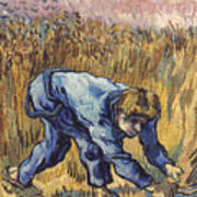 Van Gogh: The Reaper, 1889 Art Print