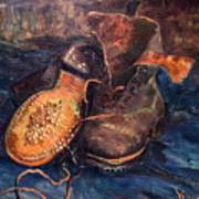 Van Gogh: The Shoes, 1887 Art Print