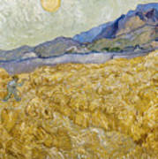 Van Gogh: Wheatfield, 1889 Art Print