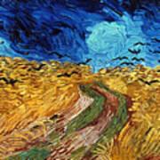 Van Gogh: Wheatfield, 1890 Art Print