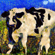Van Gogh.s Big Bull . 7d12437 Art Print by Wingsdomain Art and Photography
