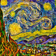 Van Gogh's 'starry Night' - Hdr Art Print