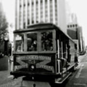 Van Ness And Market Cable Car- By Linda Woods Art Print