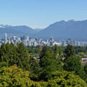Vancouver Bc City Skyline From Queen Elizabeth Park Art Print