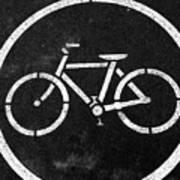 Vancouver Bike Lane- Art By Linda Woods Art Print