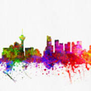 Vancouver British Columbia Skyline Color02 Art Print