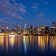 Vancouver City Twilight Art Print
