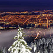 Vancouver City View Art Print