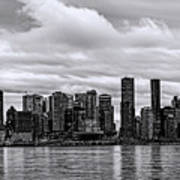 Vancouver In Black And White. Art Print