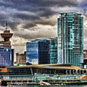 Vancouver Skyline Hdr Art Print