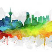 Vancouver Skyline Mmr-cabcva05 Art Print