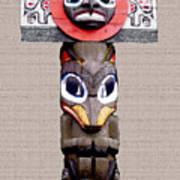 Vancouver Totem - 3 Art Print by Linda  Parker