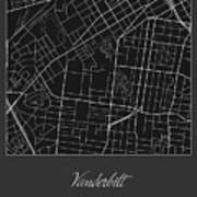 Vanderbilt Street Map - Vanderbilt University Nashville Map Art ...